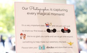 This Disney Themed Unplugged Wedding Sign is Too Cute