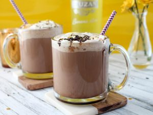 Cozy Monkey Hot Chocolate with Banana Rum