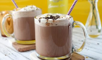 Cozy Monkey Hot Chocolate with Banana Rum
