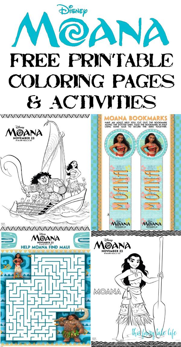 photograph about Printable Moana identified as MOANA Coloring Internet pages and Printables! - This Fairy Story Existence