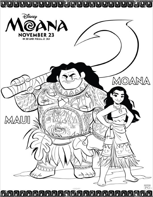 MOANA Coloring Pages and Printables!