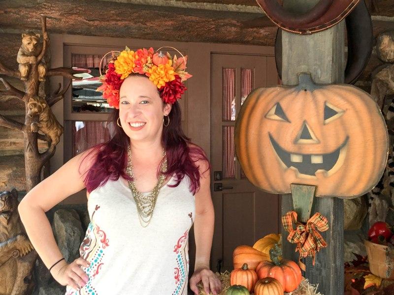 DIY Fall Flower Crown Mickey Ears