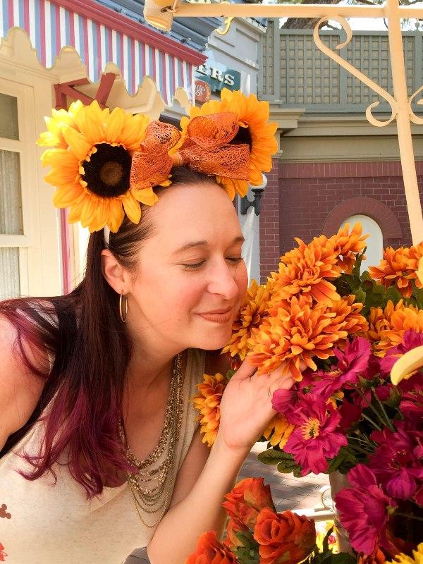 DIY Sunflower Mickey Ears