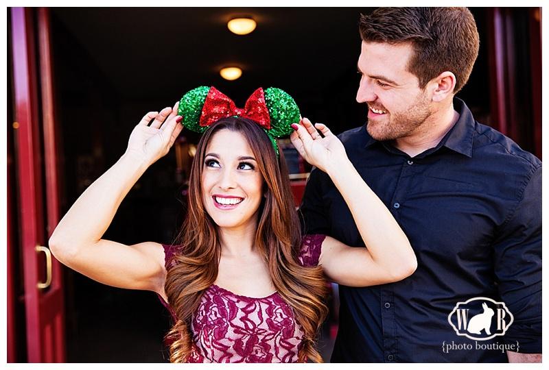 5 Magical Ideas for Christmas Disneyland Engagement Photos