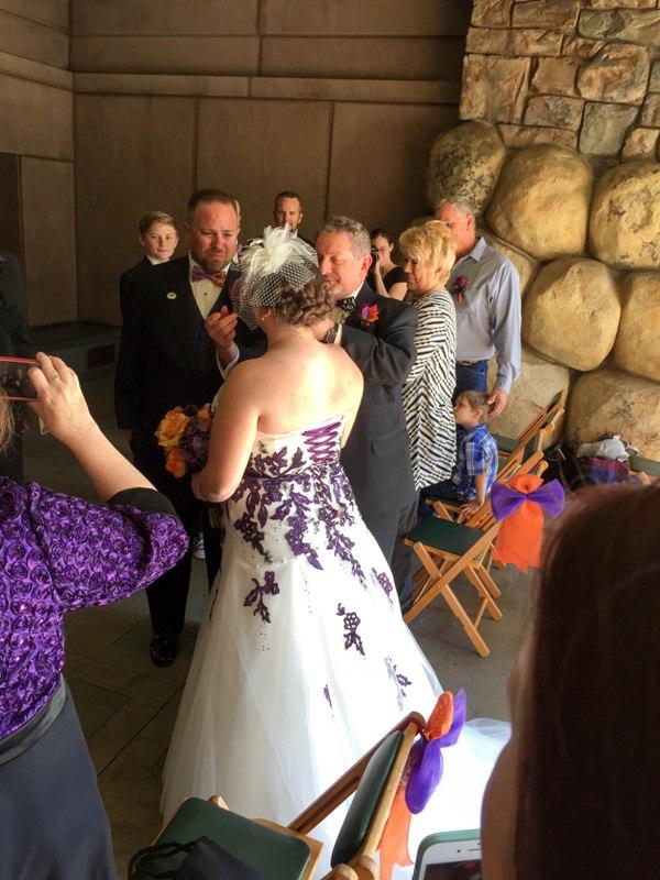 "A True ""Guest"" Post: Sandra and James' Fall Escape Disneyland Wedding"
