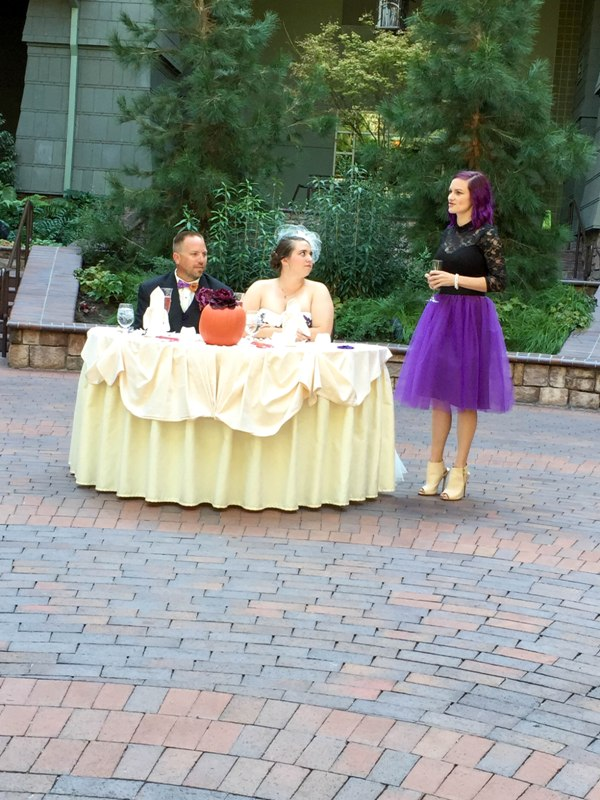 "A True ""Guest"" Post: Sandra and James' Fall Escape Disneyland Wedding"
