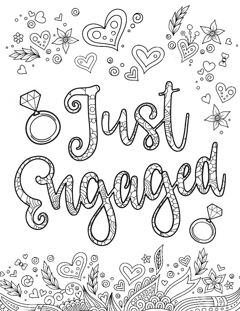Disney Bride & Just Engaged Coloring Pages - This Fairy ...