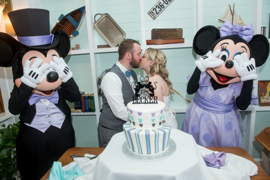 Lauren & George's Vintage Boardwalk Mini Wishes Walt Disney World Wedding