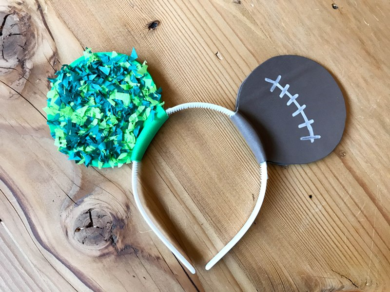DIY Football Mickey Ears