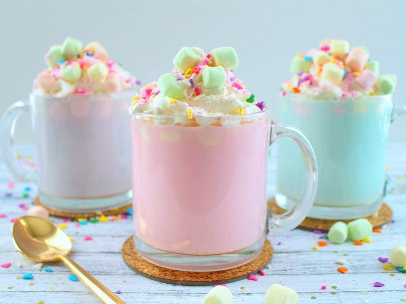 Boozy Unicorn Hot Chocolate