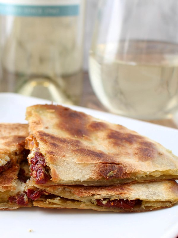 Goat Cheese and Pesto Quesadilla Recipe