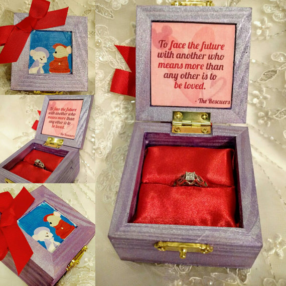 """Say """"Yes"""" to these Cute Custom Disney Engagement Ring Boxes"""