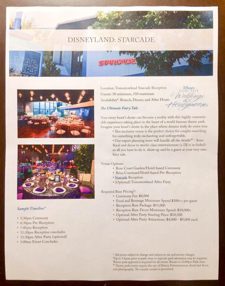 Potential New Disneyland Wedding Venue: Starcade!