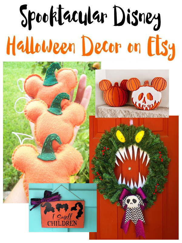 Handmade Halloween Decor with Disney themes