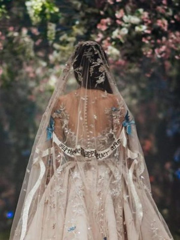 Wait Until You See the Hidden Message on this Disney Wedding Veil