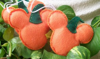 Craft felt shaped like a Mickey Mouse pumpkin