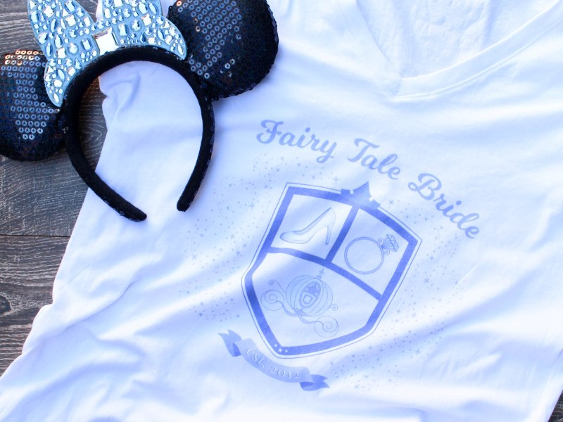"The ""Fairy Tale Bride"" Family Crest Shirt Celebrates the Disney Bride Community"