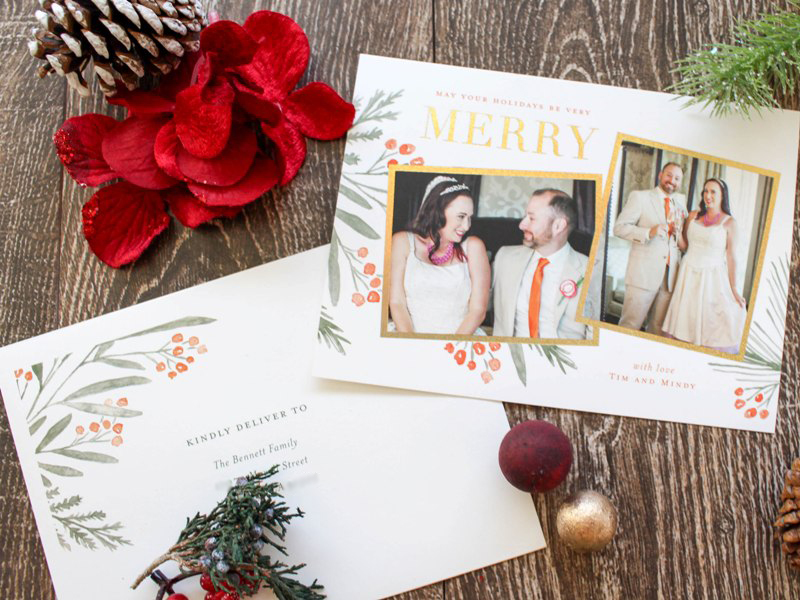Showing Off Our Sparkly Holiday Cards for 2017