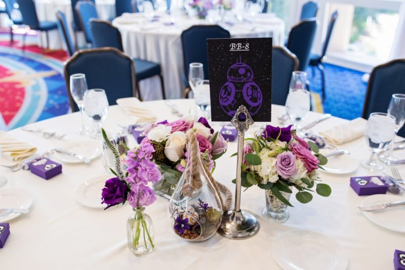 Alexis and Garrett's Ultraviolet Disneyland Wedding with Elegant Star Wars Details