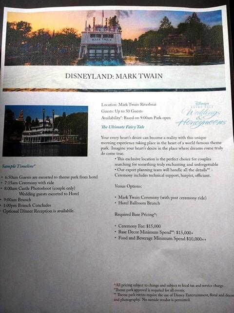 NEW In-Park Disneyland Wedding Option: Mark Twain Riverboat!