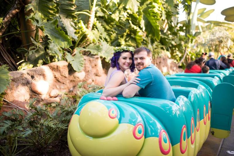 Adorable Flik and Atta Disneybound Anniversary Session at A Bug's Land // White Rabbit Photo Boutique