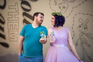 Adorable Flik and Atta Disneybound Anniversary Session at A Bug's Land
