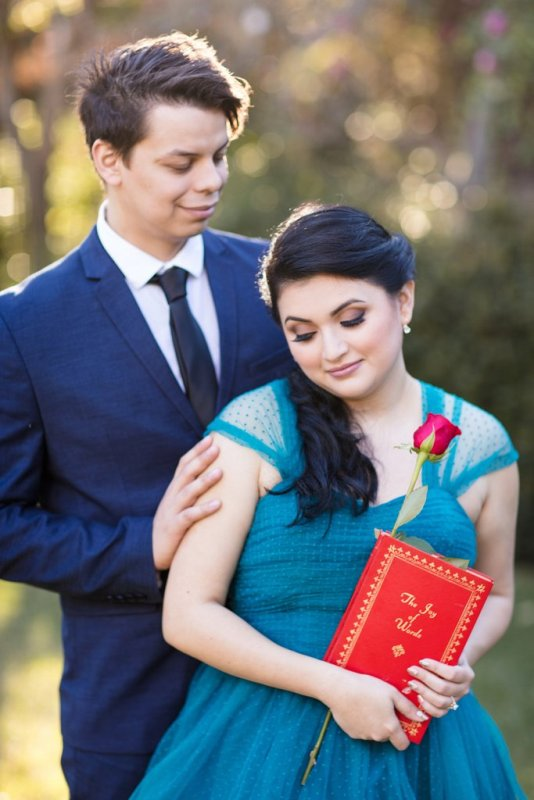 You Have to See These Totally Magical BEAUTY AND THE BEAST Engagement Photos // White Rabbit Photo Boutique