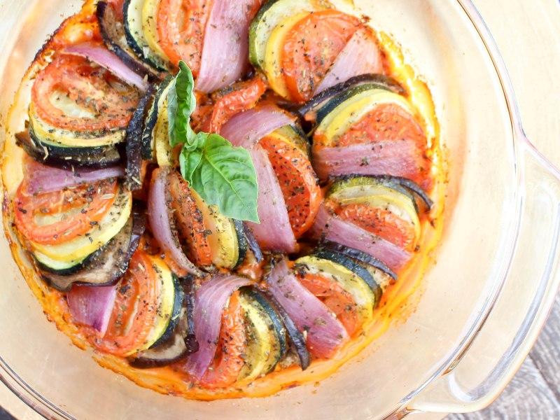 Easy Ratatouille with Creamy Tomato Sauce Recipe