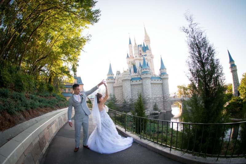 Rachael and Derek's Fairy Tale Elopement at Walt Disney World