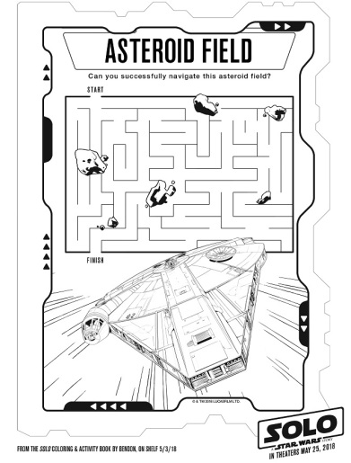 photograph about Star Wars Printable Activities titled SOLO Coloring Web pages and Printable Pursuits - This Fairy