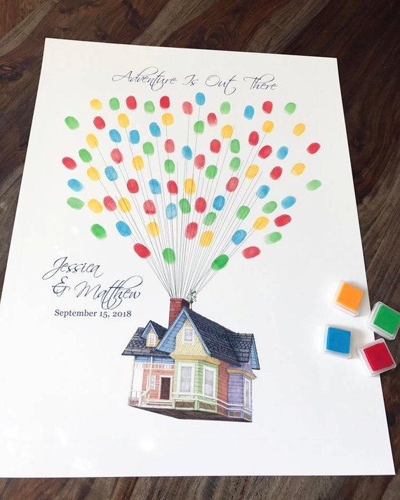 Unique Wedding Guest Book Ideas: Unique Disney Wedding Guest Book Ideas