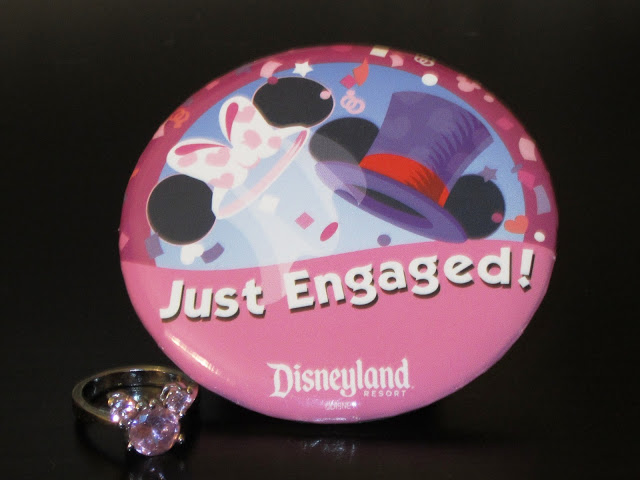 Disneyland Just Engaged Pin and Mickey Ring