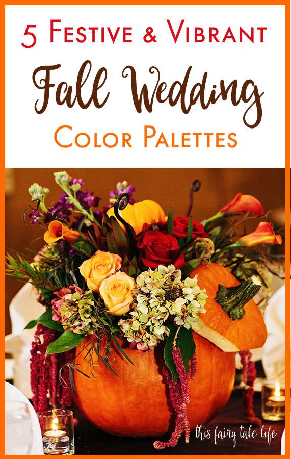 5 Festive Fall Wedding Palettes