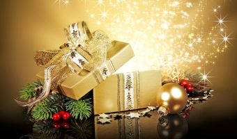 Gold wrapped present
