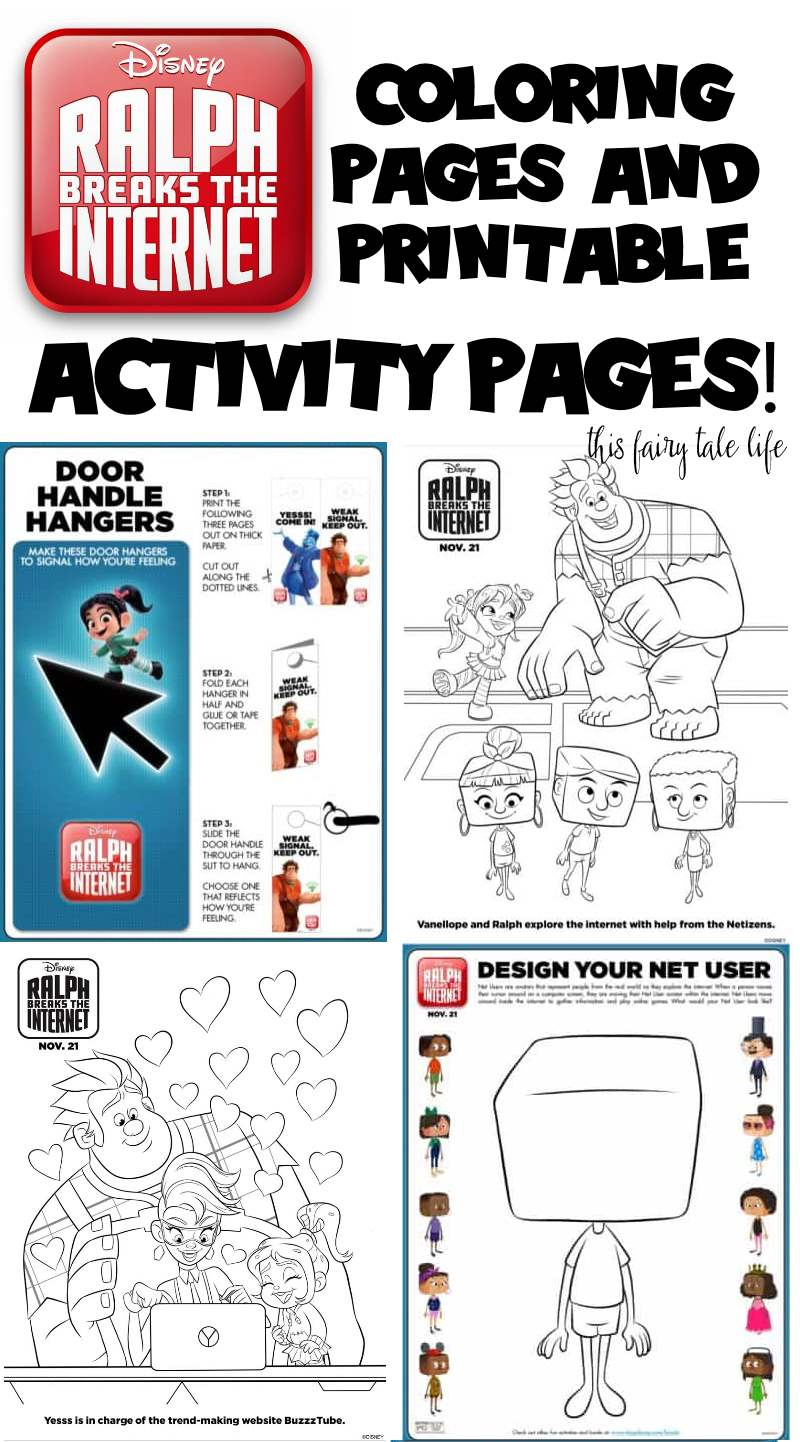 Ralph Breaks The Internet Coloring Pages And Activities This Fairy