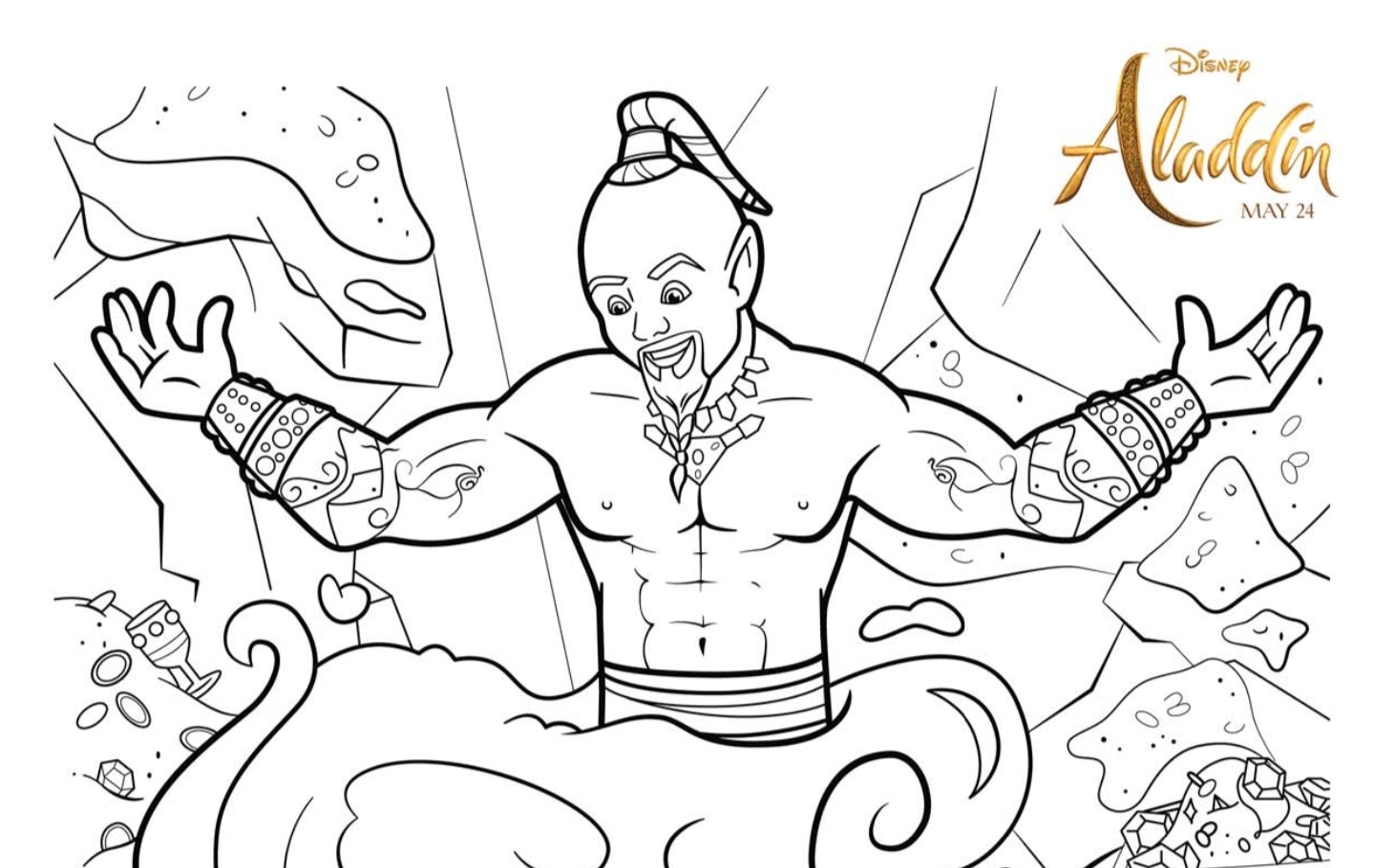 Free ALADDIN Printable Coloring Pages and Activities