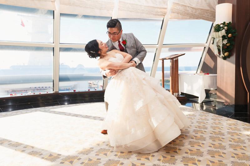 Stephanie and Thomas' Magical Wedding on the Disney Dream