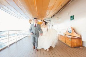 Stephanie and Thomas' Magical Wedding on the Disney Dream
