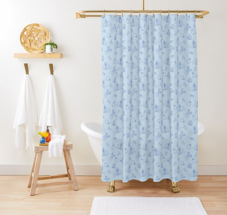 Magical Bride All Over Print - Blue Shower Curtain