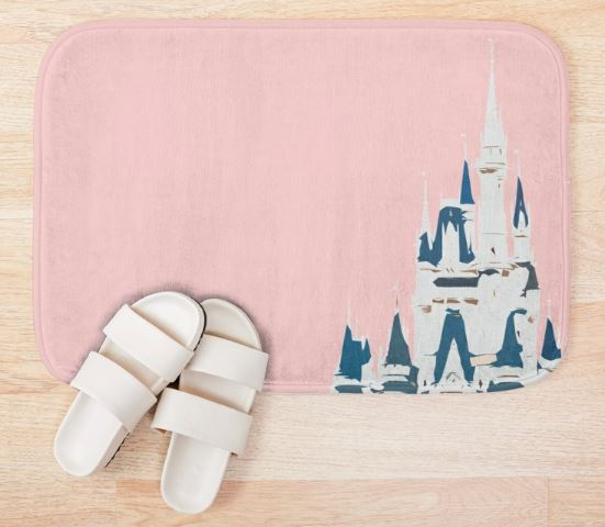 Magic Castle Millennial Pink Bath Mat
