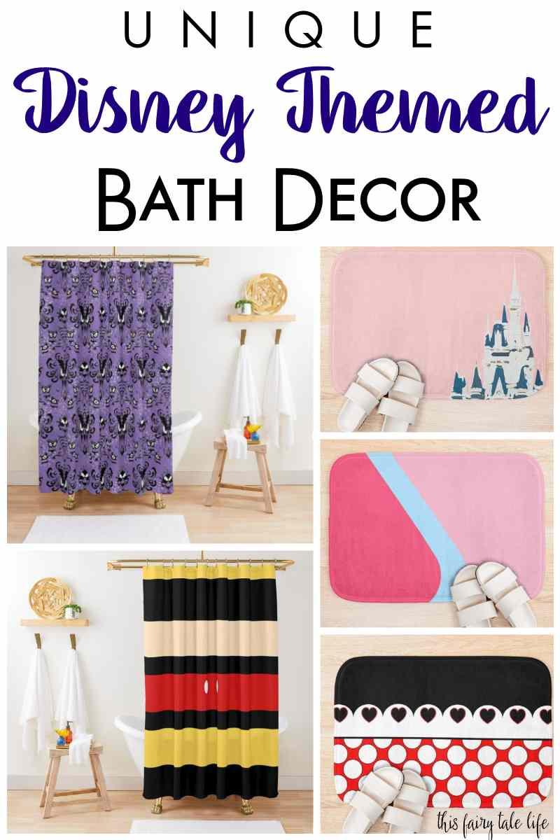 Disney-fy Your Bathroom with Bath Decor Products from Redbubble