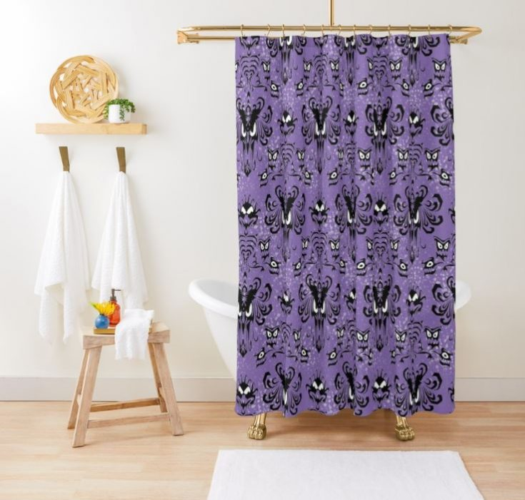 999 Happy Haunts Remix Shower Curtain