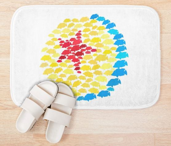 Luxo Fish Wall Bath Mat