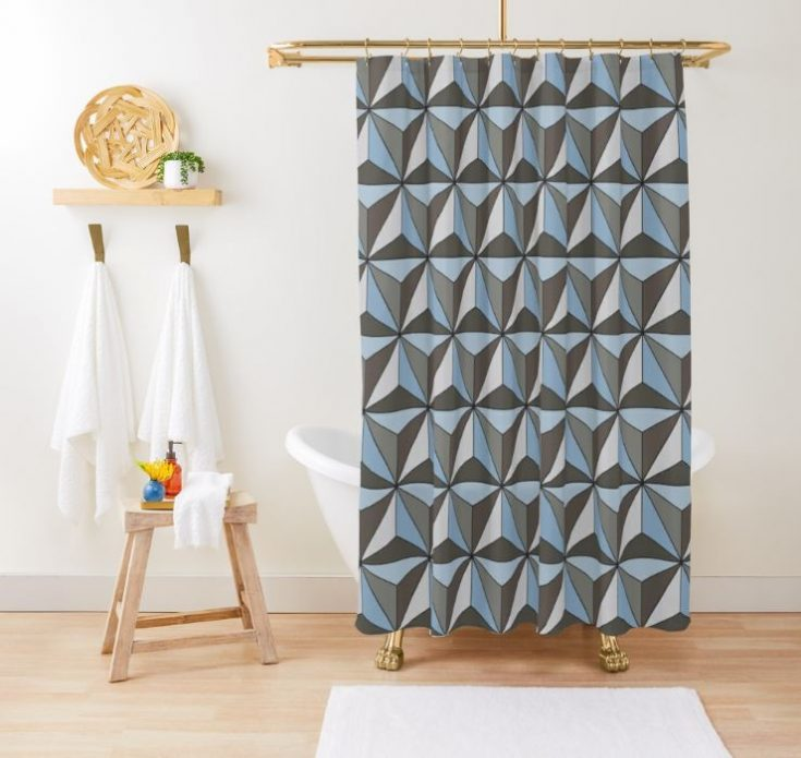 Spaceship Earth Shower Curtain