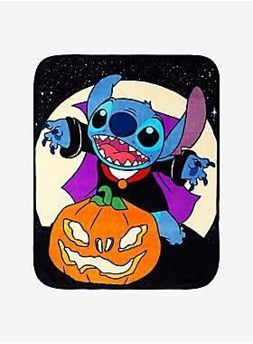 Disney Lilo & Stitch Vampire Stitch Throw Blanket