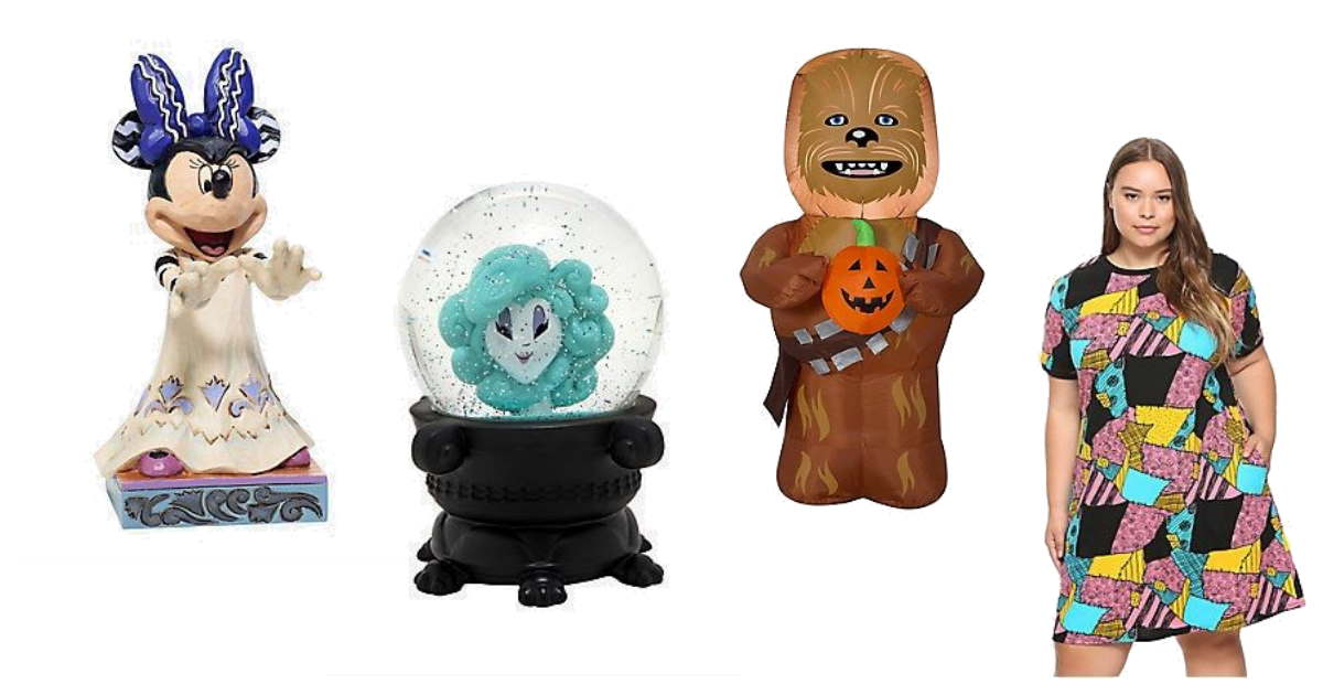 Collage of Disney Halloween merchandise