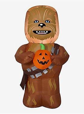 Star Wars Chewbacca With Pumpkin Airblown