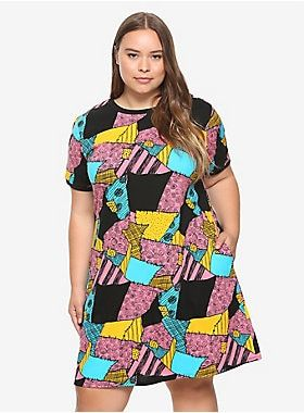 The Nightmare Before Christmas Sally T-Shirt Dress Plus Size