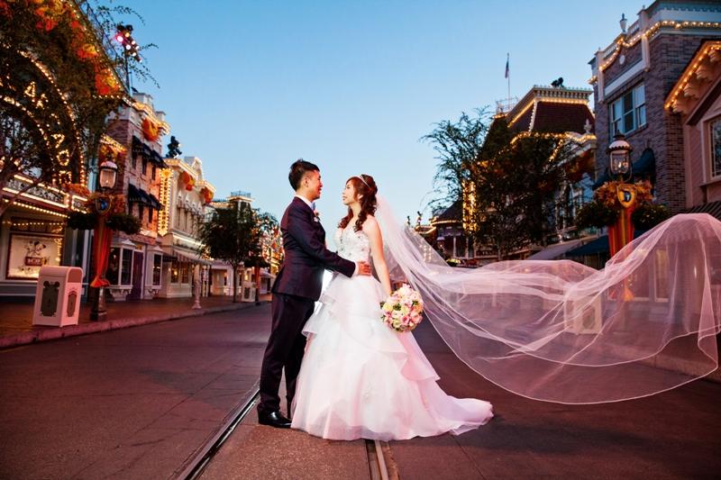 Sleeping Beauty Castle Wedding at Disneyland