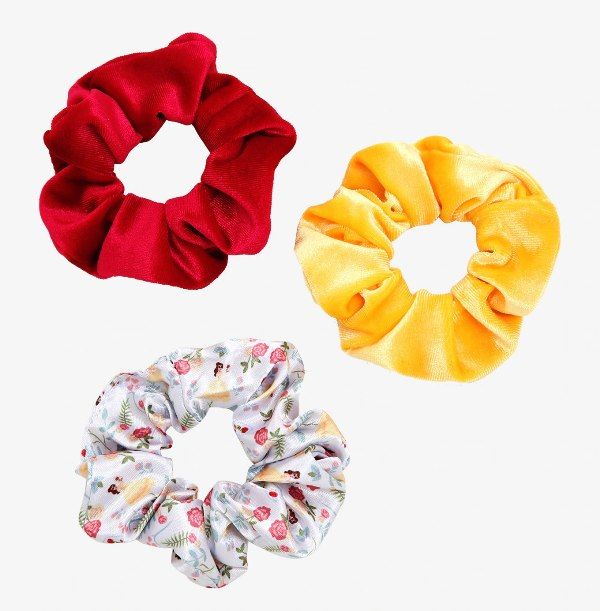 Disney Beauty and the Beast Velvet Scrunchy Set - BoxLunch Exclusive